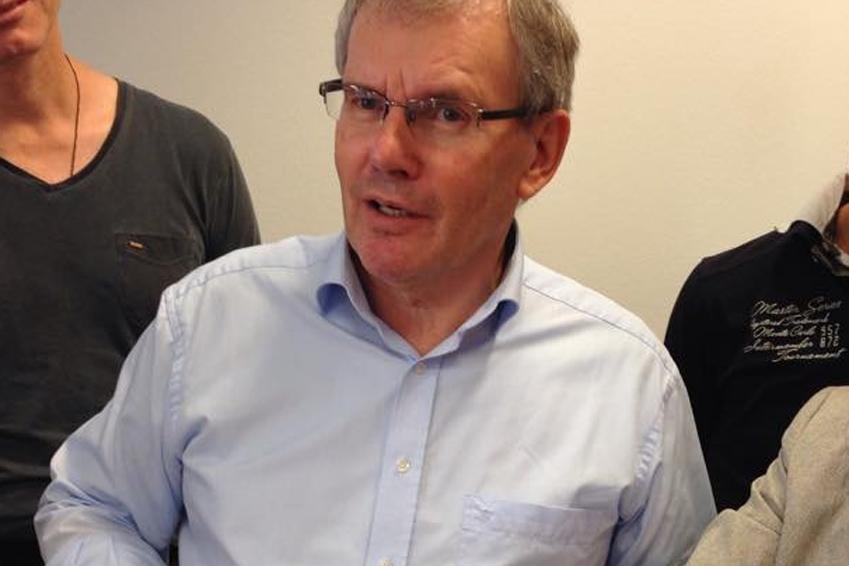 Makuladegeneration - Prof. John Boel beim Seminar in München 2015 (Michaela Noll)
